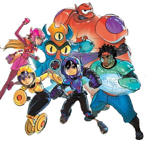 494px-Big_Hero_6_team_Illustrated_Render_II